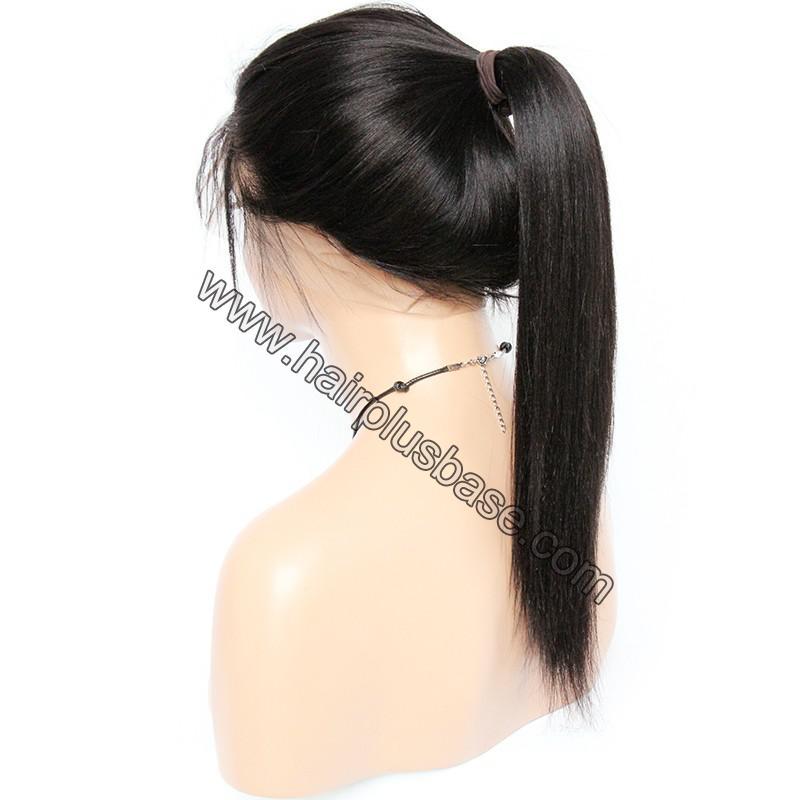 Pre Plucked 360 Lace Wigs Yaki Straight,150% Density, Brazilian Virgin Hair 5