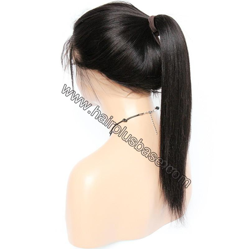 Pre Plucked 360 Lace Wigs Yaki Straight,180% Density Indian Remy Hair 6