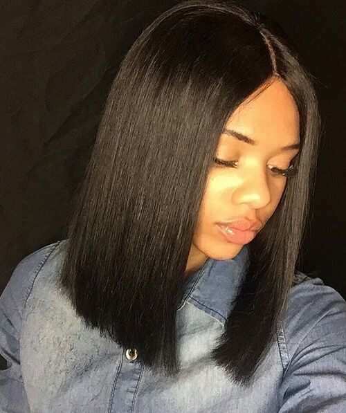 Pre Plucked 360 Lace Wigs Yaki Straight Blunt Bob Cut Bob Wig, 150% Density, Brazilian Virgin Hair Short Bob Wig 0