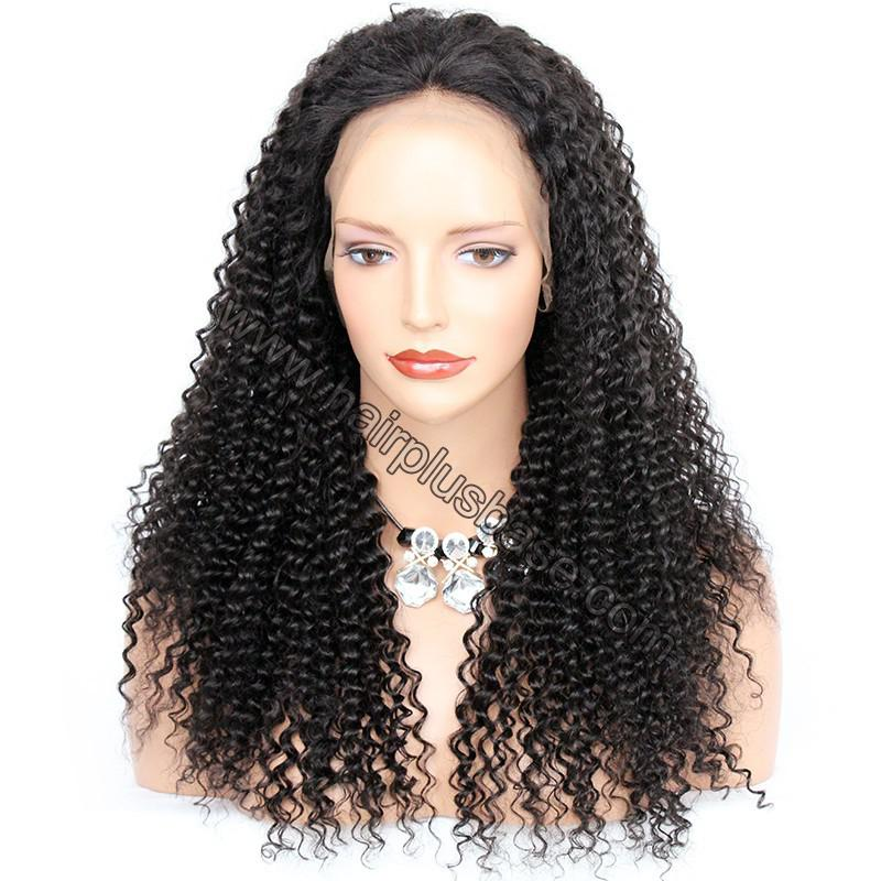 Pre Plucked Hairline 360 Lace Wigs Kinky Curl, 180% Density,  Indian Remy Hair, 4.5 Inches Deep Part 1
