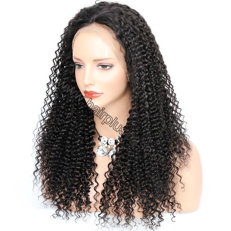 Pre Plucked Hairline 360 Lace Wigs Kinky Curl, 180% Density,  Indian Remy Hair, 4.5 Inches Deep Part 4