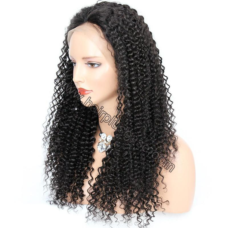 Pre Plucked Hairline 360 Lace Wigs Kinky Curl, 180% Density,  Indian Remy Hair, 4.5 Inches Deep Part 5