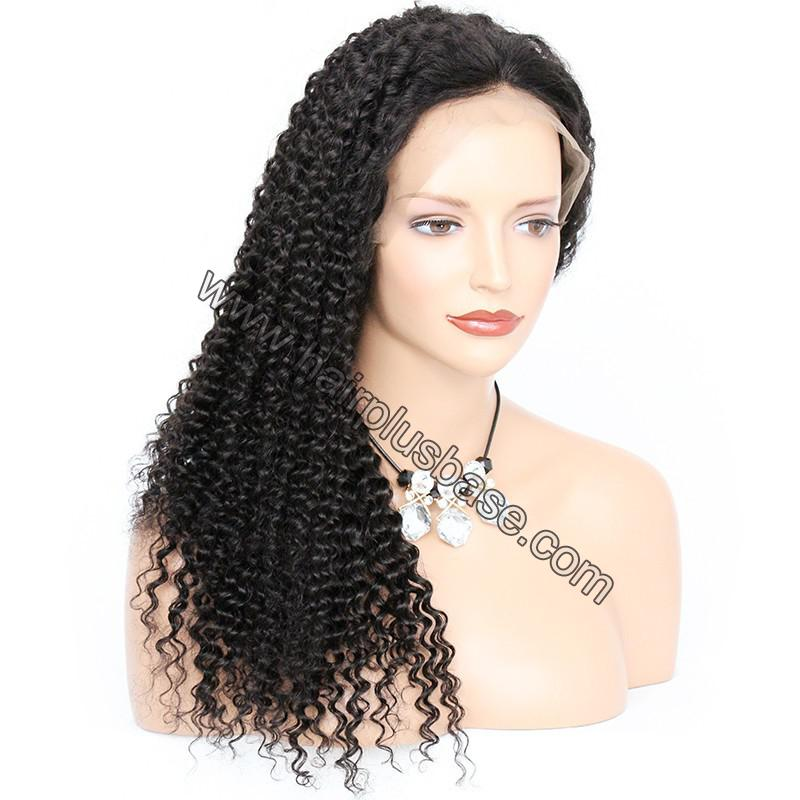 Pre Plucked Hairline 360 Lace Wigs Kinky Curl, 180% Density,  Indian Remy Hair, 4.5 Inches Deep Part 7
