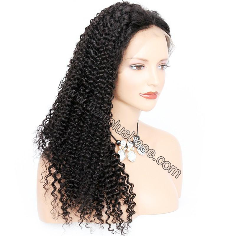 Pre Plucked Hairline 360 Lace Wigs Kinky Curl, 180% Density,  Indian Remy Hair, 4.5 Inches Deep Part 8
