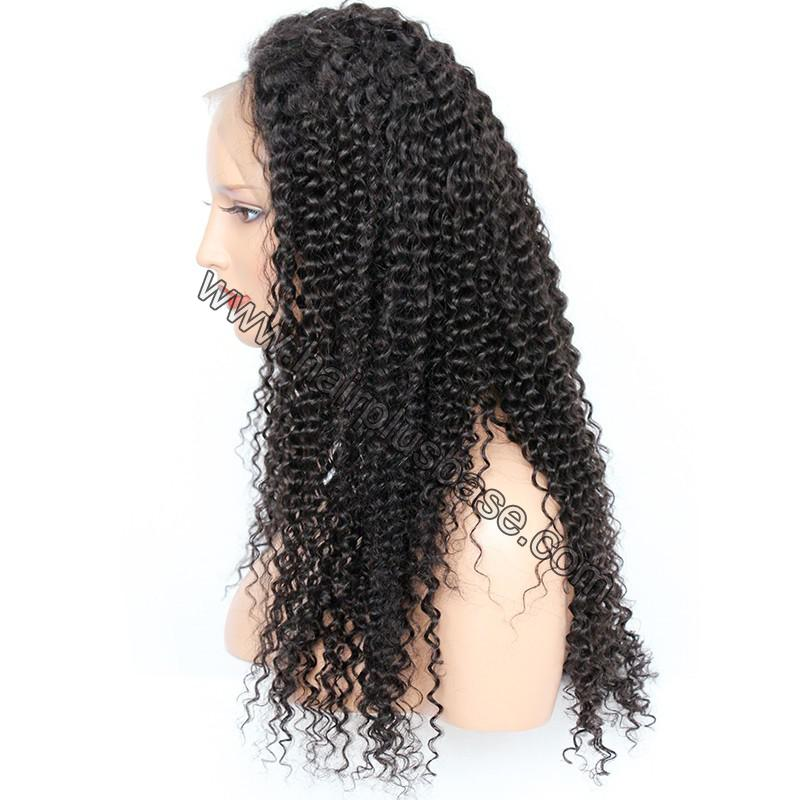 Pre Plucked Hairline 360 Lace Wigs Kinky Curl, 180% Density,  Indian Remy Hair, 4.5 Inches Deep Part 9