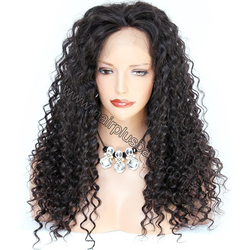 Pre Plucked Hairline 360 Lace Wigs Loose Curl,150% Density, Indian Remy Hair 1