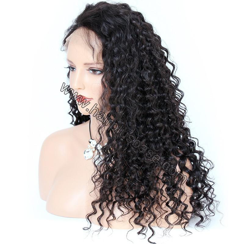 Pre Plucked Hairline 360 Lace Wigs Loose Curl,150% Density, Indian Remy Hair 3