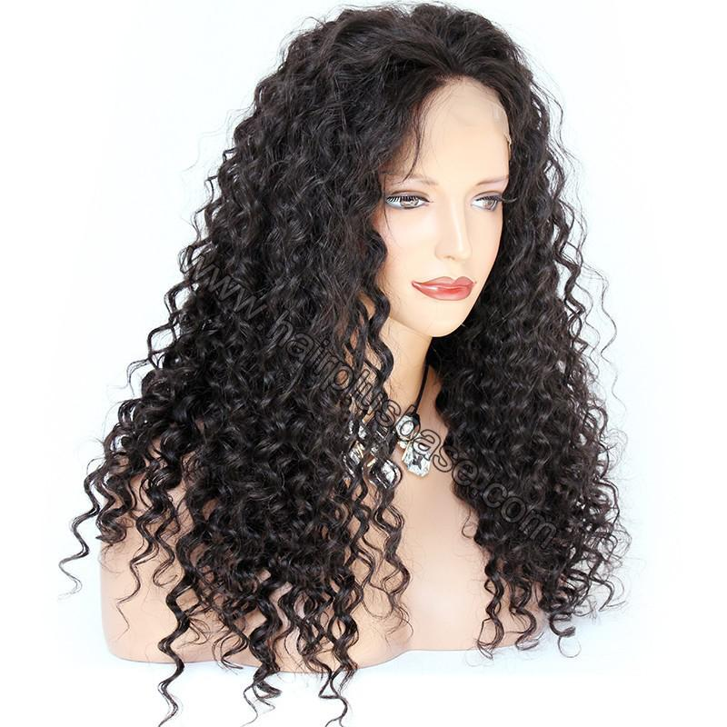 Pre Plucked Hairline 360 Lace Wigs Loose Curl,150% Density, Indian Remy Hair 4