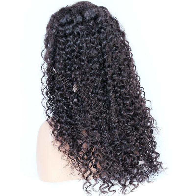 Pre Plucked Hairline 360 Lace Wigs Loose Curl,150% Density, Indian Remy Hair 5