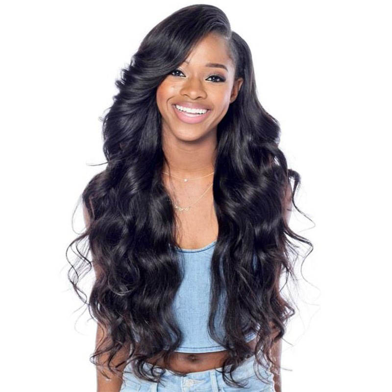 Pre Plucked Hairline Glueless Full Lace Wigs Indian Remy Hair Big Body Wave