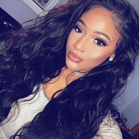 Pre Plucked Hairline Natural Wave 360 Lace Wigs, 180% Density, Indian Remy Hair