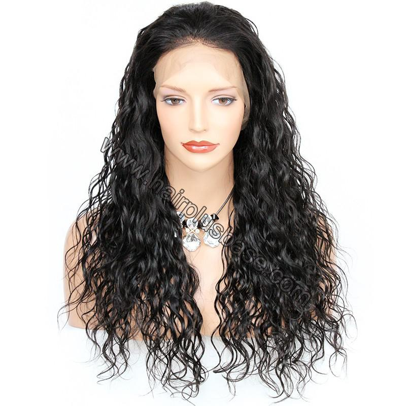 Pre Plucked Hairline Natural Wave 360 Lace Wigs, 180% Density, Indian Remy Hair 1