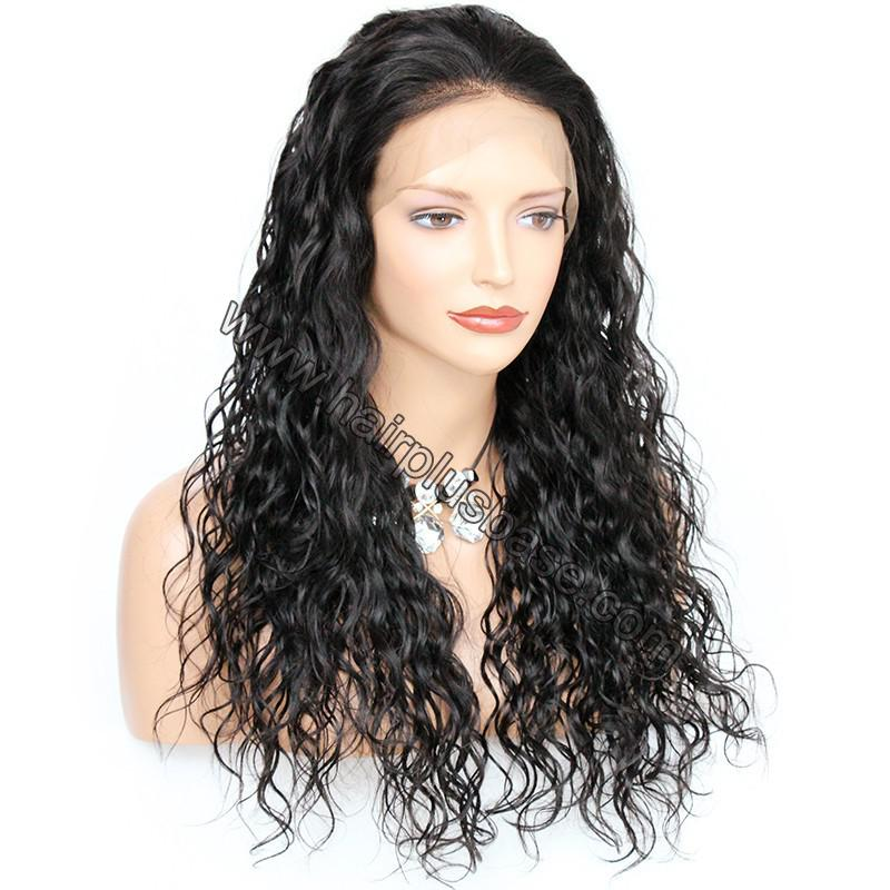 Pre Plucked Hairline Natural Wave 360 Lace Wigs, 180% Density, Indian Remy Hair 2