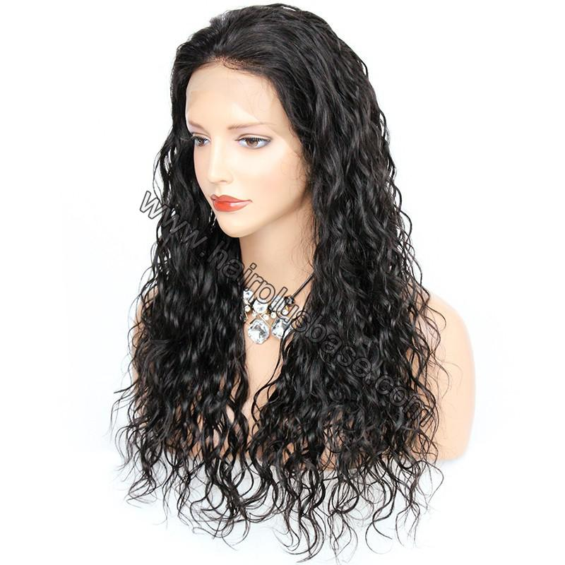 Pre Plucked Hairline Natural Wave 360 Lace Wigs, 180% Density, Indian Remy Hair 3
