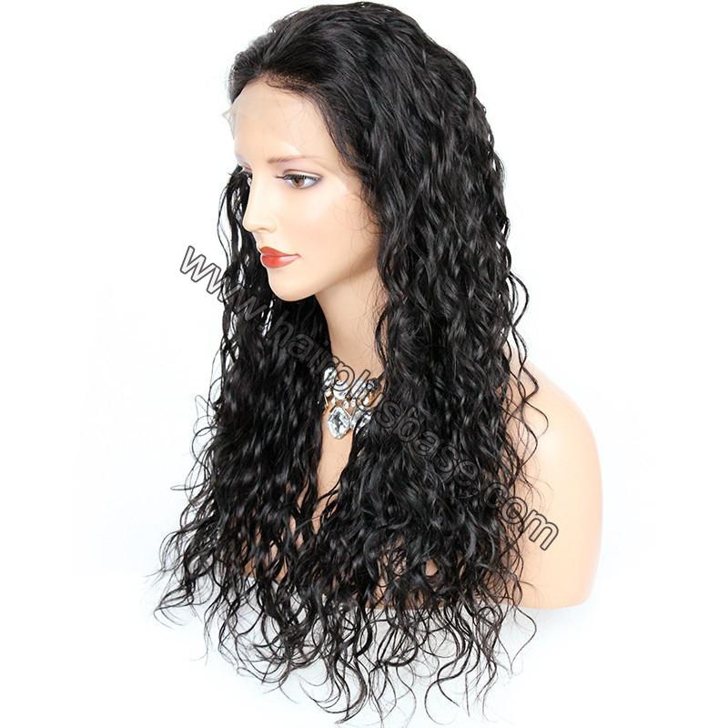 Pre Plucked Hairline Natural Wave 360 Lace Wigs, 180% Density, Indian Remy Hair 4