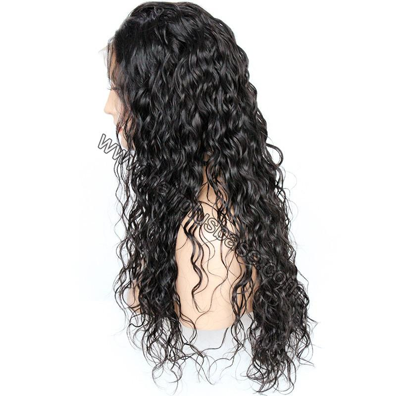 Pre Plucked Hairline Natural Wave 360 Lace Wigs, 180% Density, Indian Remy Hair 5