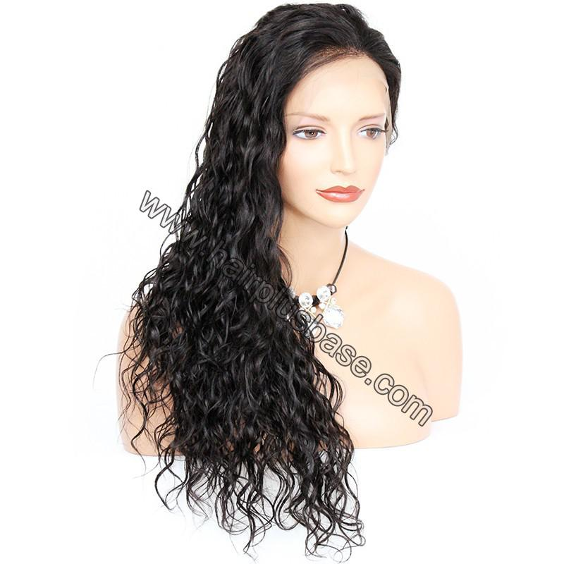 Pre Plucked Hairline Natural Wave 360 Lace Wigs, 180% Density, Indian Remy Hair 7