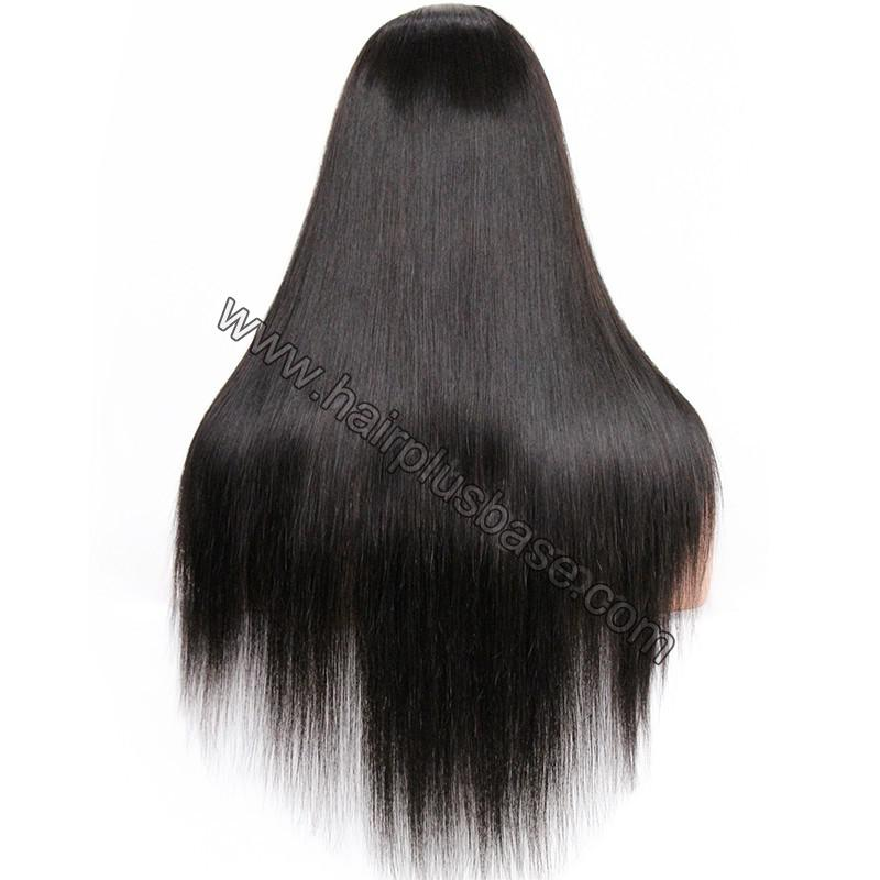 Pre Plucked Natural Straight 360 Lace Wigs, 180% Density, Indian Remy Hair 10