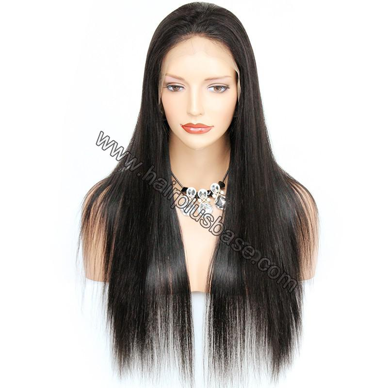 Pre Plucked Natural Straight 360 Lace Wigs, 180% Density, Indian Remy Hair 4