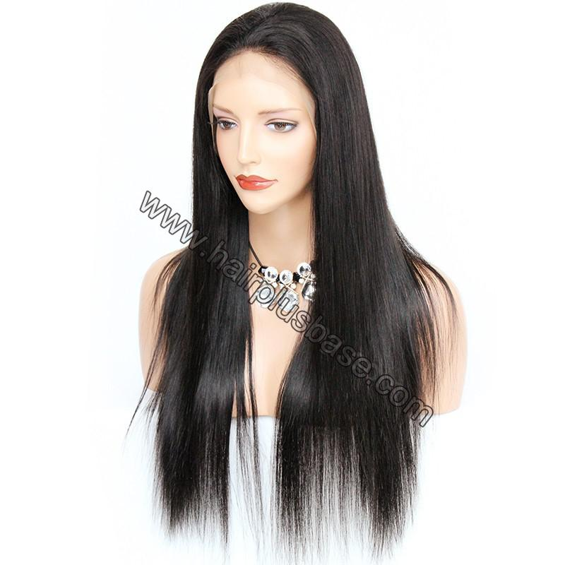 Pre Plucked Natural Straight 360 Lace Wigs, 180% Density, Indian Remy Hair 5