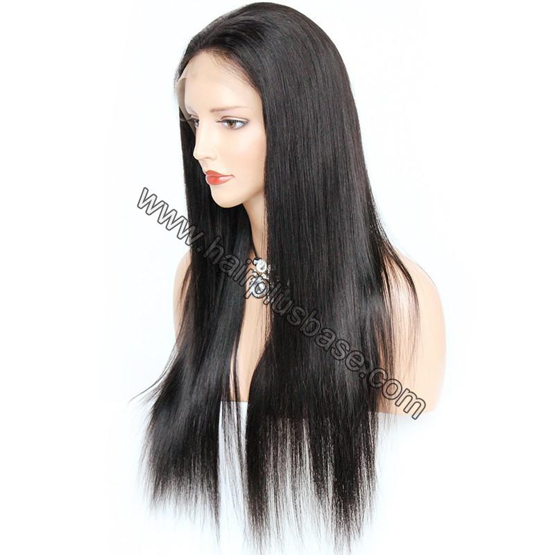 Pre Plucked Natural Straight 360 Lace Wigs, 180% Density, Indian Remy Hair 6