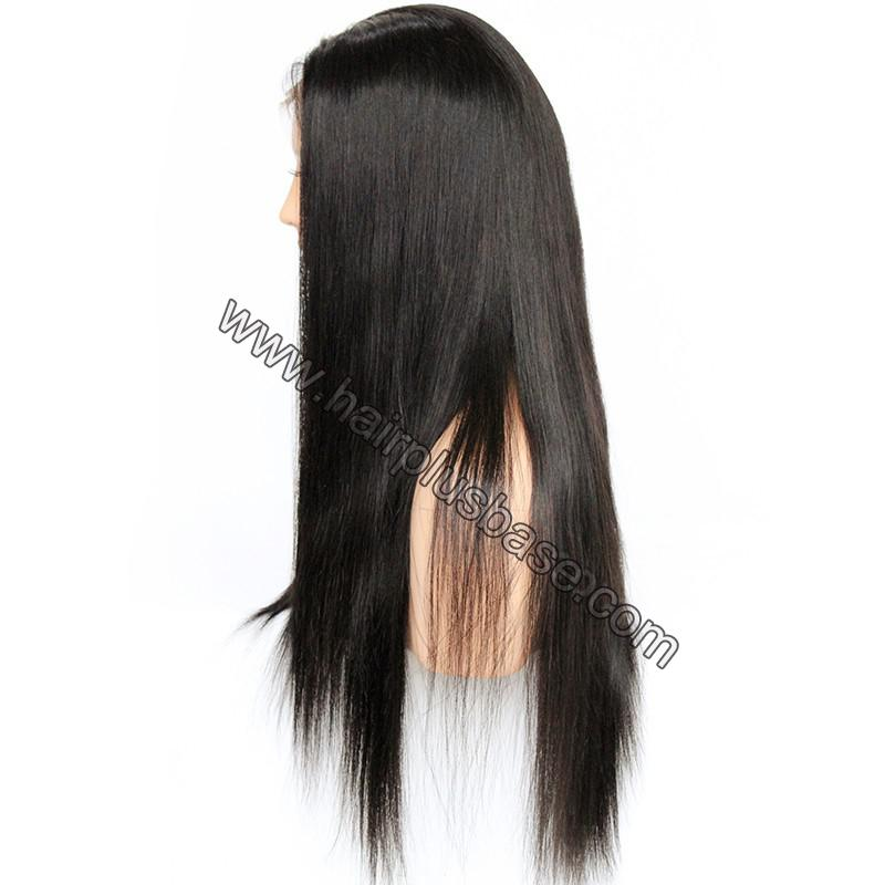 Pre Plucked Natural Straight 360 Lace Wigs, 180% Density, Indian Remy Hair 7
