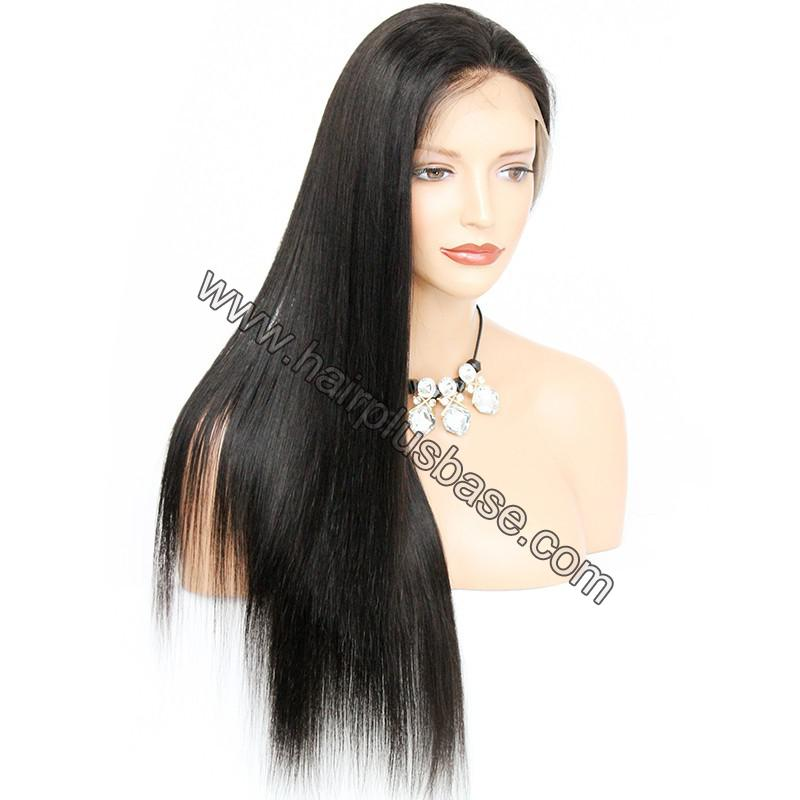 Pre Plucked Natural Straight 360 Lace Wigs, 180% Density, Indian Remy Hair 8