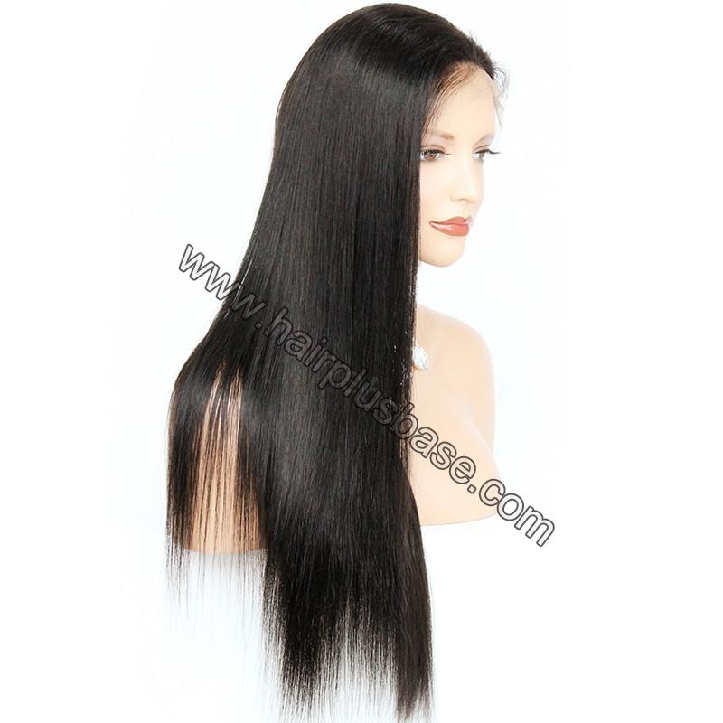 Pre Plucked Natural Straight 360 Lace Wigs, 180% Density, Indian Remy Hair 9