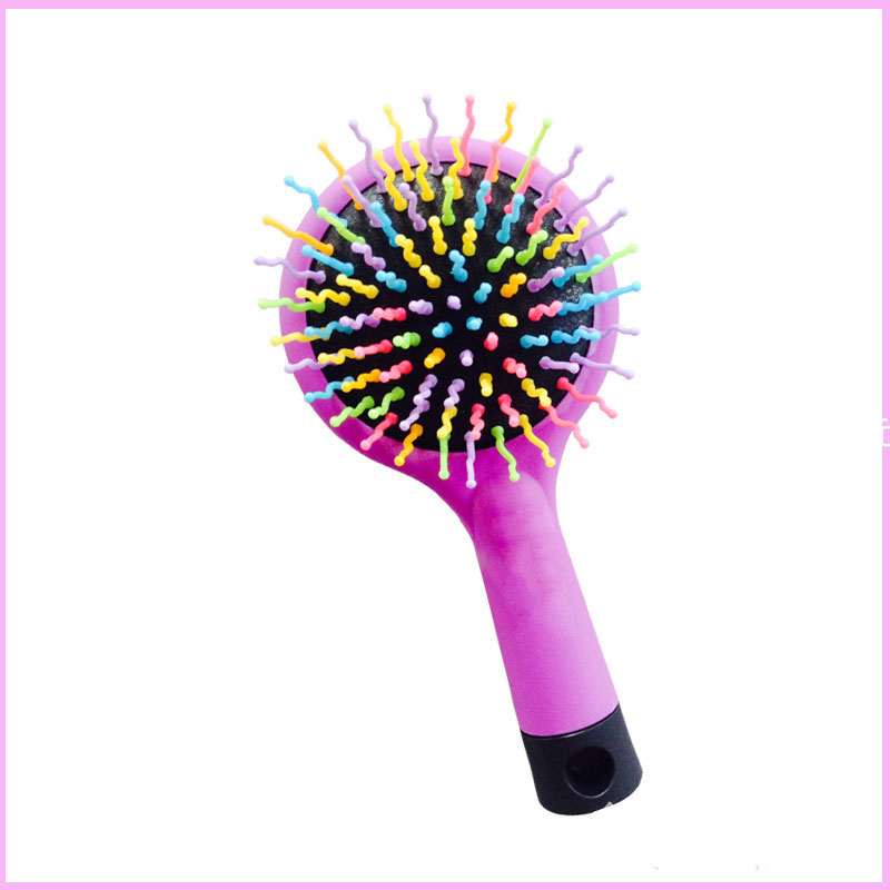 Rainbow S-Curl Air Volume Brush With Back Mirror for Abundant hair & Detangling Comb 2