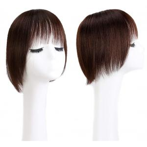 Real Human Hair Crown Filler Topper Hairpiece for Women with Bangs, Clip in Hair Toppers
