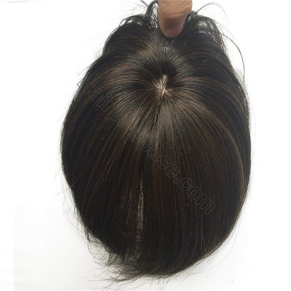"""Real Human Hair Crown Topper Hairpieces 6.7"""" Toupee ..."""