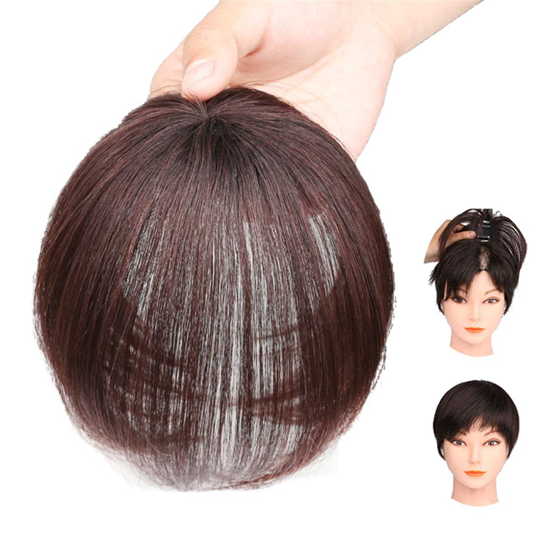 Real Human Hair Crown Toppers for Women with Bald Spot, Clip in Top Hairpieces Toupee for Women 8