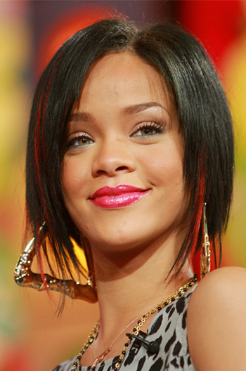 Red Hair Bling Rihanna Inspired Short Bob Affordable Human Hair Lace Wigs