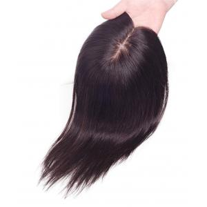 """Remy Human Hair Silk Top Topper Pieces, 5"""" x 6"""" Silk Base Full Hand tied Parting Free For Hair Loss or Thinning Hair"""