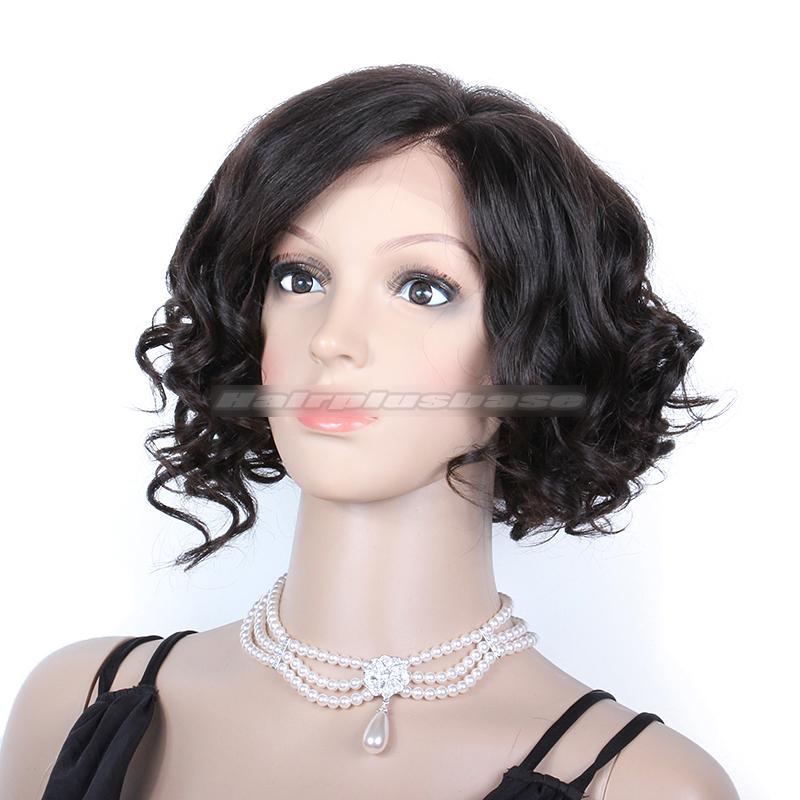 Rihanna Inspired Cute Curly Short Bob Human Hair Lace Wigs