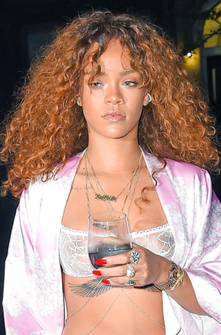 Rihanna Inspired Golden Brown Ombre Hair Bouffant Curl Celebrity Lace Wigs