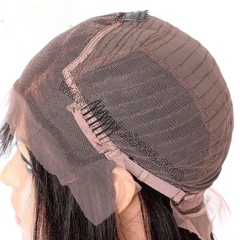 Rihanna Style 4.5 Inch Deep Part High Density Afro Kinky Curl Lace Front Wigs 250% Density, Indian Remy Hair 1