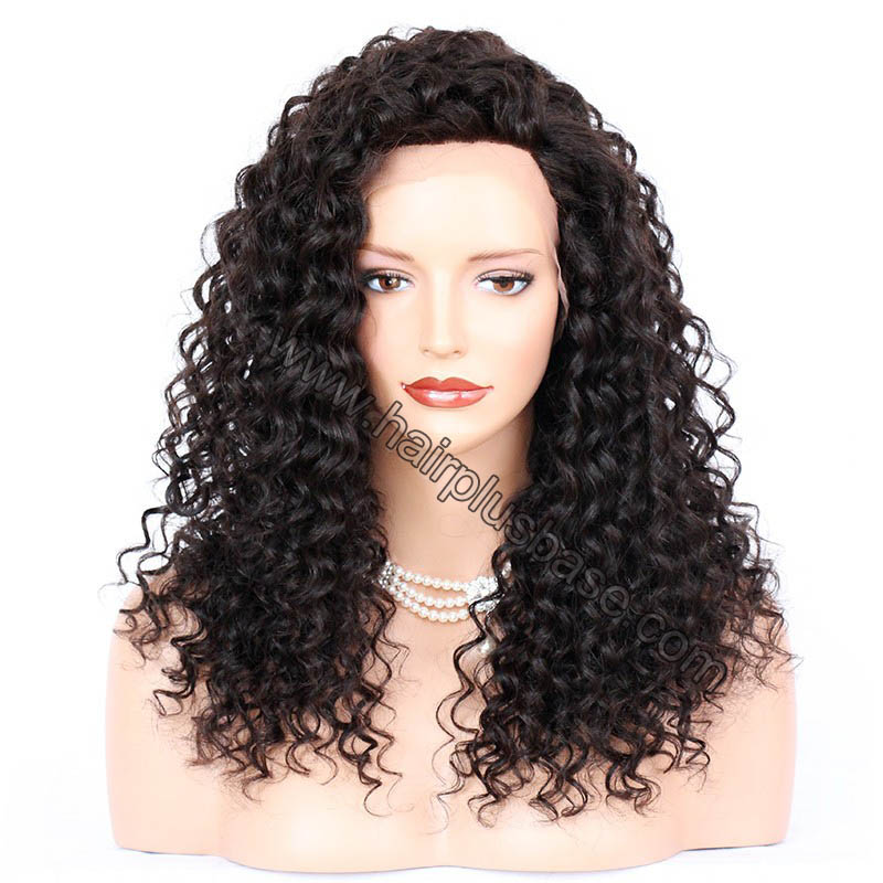 Sexy Messy Wave Lace Front Wigs Indian Remy Hair, 4.5 Inch Deep Part