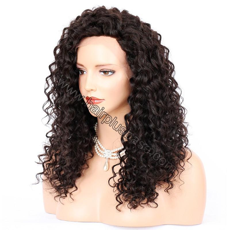 Sexy Messy Wave Lace Front Wigs Indian Remy Hair, 4.5 Inch Deep Part 5