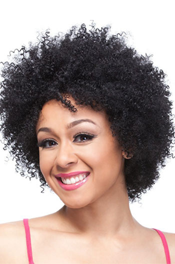 Short Kinky Curly Human Hair Wigs Glueless Wigs With Side Bangs