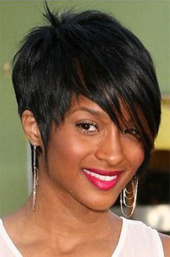 Short Indian Remy Hair Machine Made Glueless Cap Celebrity Wigs