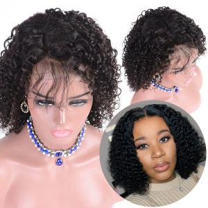Short Human Hair Wigs Middle Part Deep Wave Bob Wigs 8-16 Inches