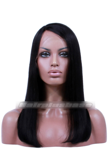Indian Remy Hair Side Part Bob Yaki Straight 150% Thick Density Glueless Lace Part Lace Wigs