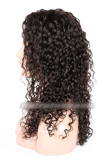 Indian Remy Hair Side Part Lovely Curly Style Glueless Lace Part Wigs