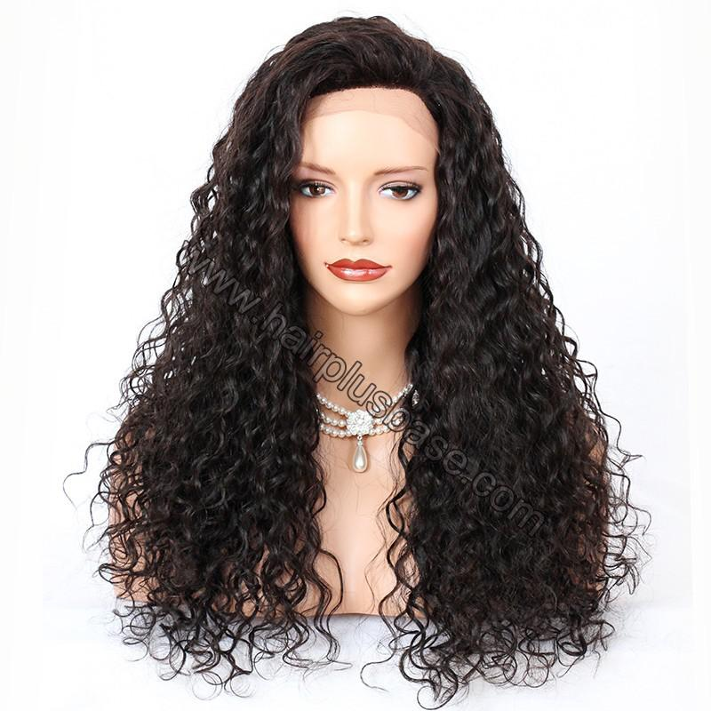 Silk Base 4*4 Lace Front Wigs Indian Human Hair Curly 1