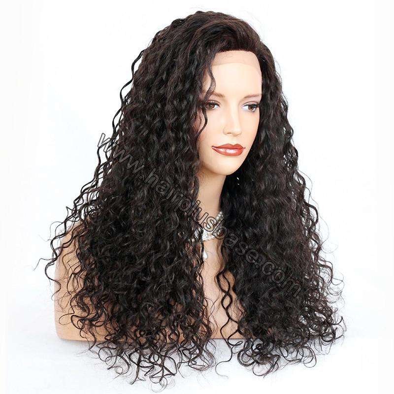 Silk Base 4*4 Lace Front Wigs Indian Human Hair Curly 3