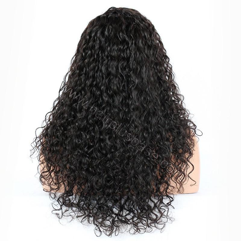 Silk Base 4*4 Lace Front Wigs Indian Human Hair Curly 4