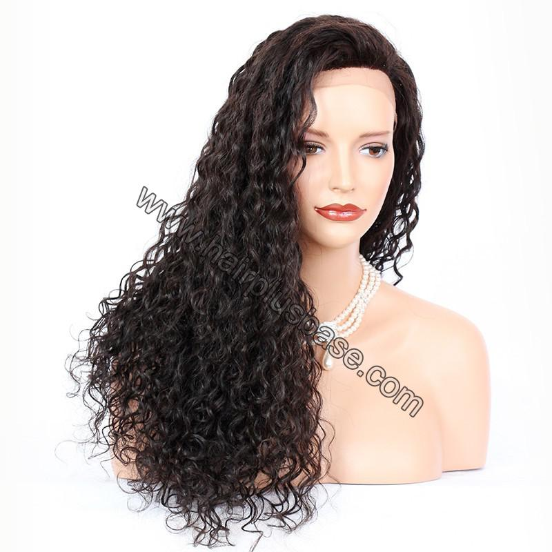 Silk Base 4*4 Lace Front Wigs Indian Human Hair Curly 5