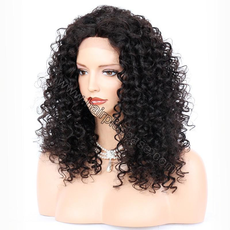 Silk Base 4*4 Lace Front Wigs Indian Human Hair Kinky Curly 2