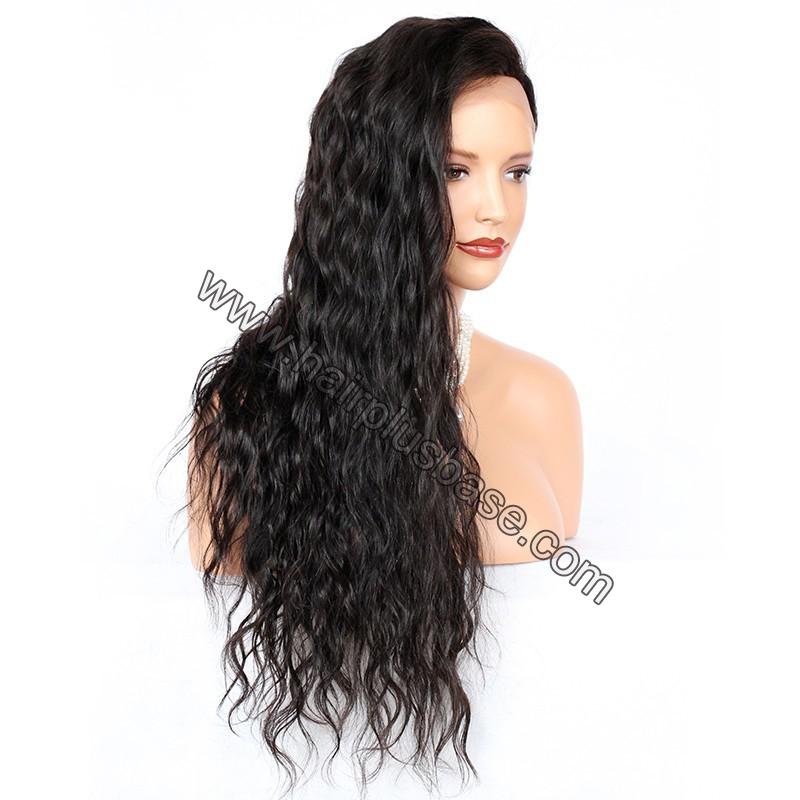 Silk Base 4*4 Lace Front Wigs Indian Human Hair Loose Wave 3